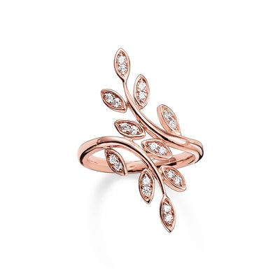 Thomas Sabo Women's Ring Tendrils small Rose Gold Plated TR2017-416-14-54