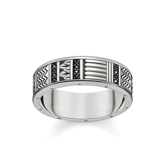 Thomas Sabo Unisex Ring Hieroglyphs Ornamentation TR2108-643-11