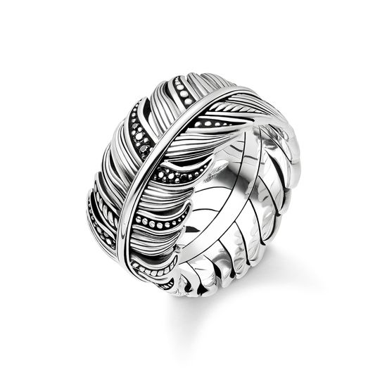 Thomas Sabo Unisex Ring Feather Pavé TR2159-643-11