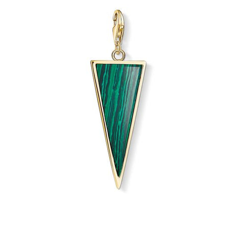 "THOMAS SABO CHARM PENDANT ""GREEN TRIANGLE"" Y0023-140-6"