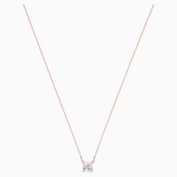 Swarovski Attract Necklace, White, Rose-gold tone plated 5510698