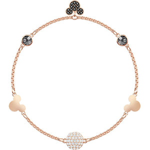 Swarovski Remix Collection Mickey Strand, Multi-colored, Rose Gold Plating 5462360
