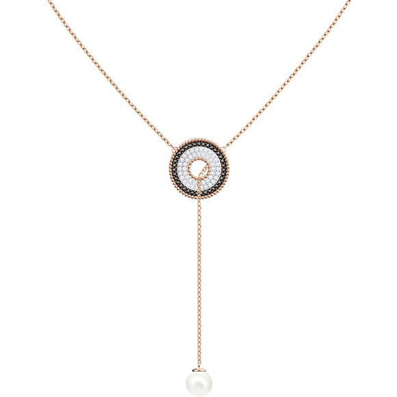 Swarovski Lollypop Y Necklace, Multi-colored, Rose Gold Plating 5414995