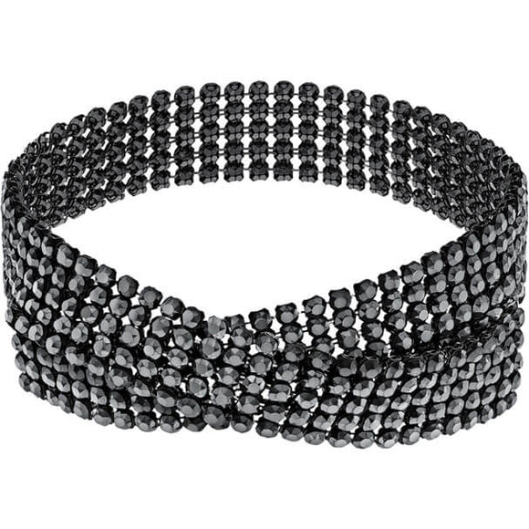 Swarovski Fit Necklace, Black, Ruthenium Plating 5355185