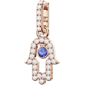 Swarovski Remix Collection Charm, Hamsa, Multi-colored, Rose Gold Plating 5434402