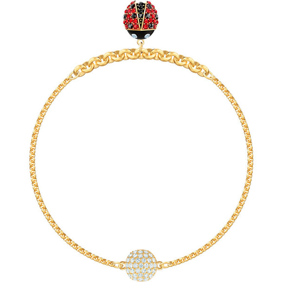 Swarovski Remix Collection Ladybug Strand, Multi-colored, Gold Plating 5466832