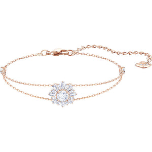 Swarovski Sunshine Bracelet, White, Rose Gold Plating 5451357