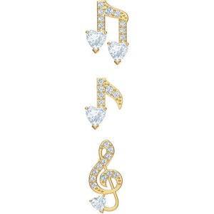 Swarovski Pleasant Pierced Earrings Set, White, Gold-tone Plateded 5491659