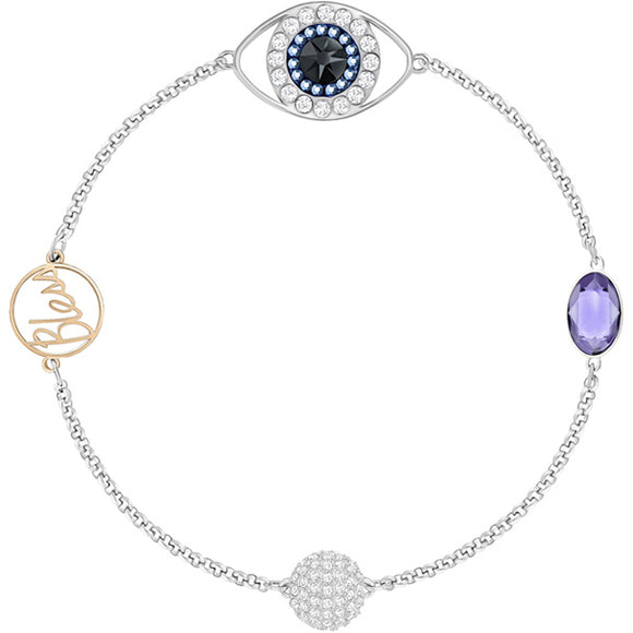 Swarovski Remix Collection Eye Symbol, Strand Purple, Mixed Plating 5421438