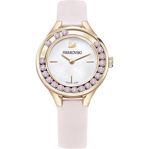 Swarovski Lovely Crystals Mini Watch, Leather Strap, Pink, Rose Gold Tone 5376089