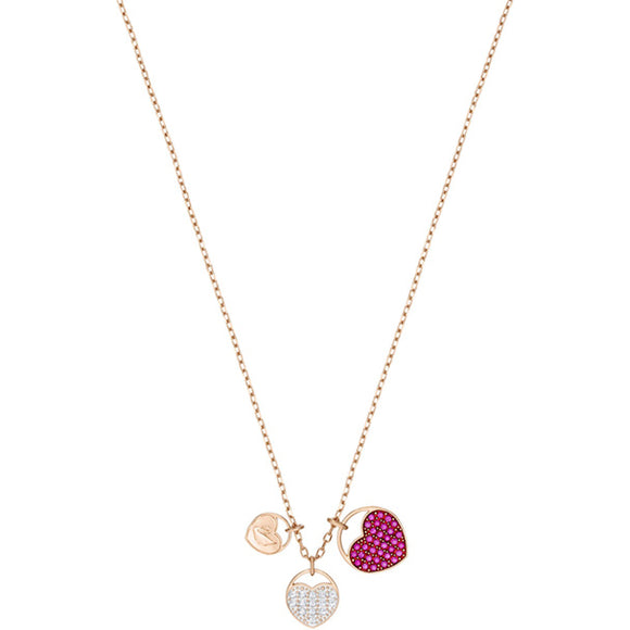 Swarovski Ginger Pendant, Pink, Rose Gold Plating 5472446