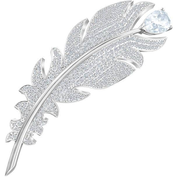 Swarovski Nice Brooch, White, Rhodium Plated 5495417