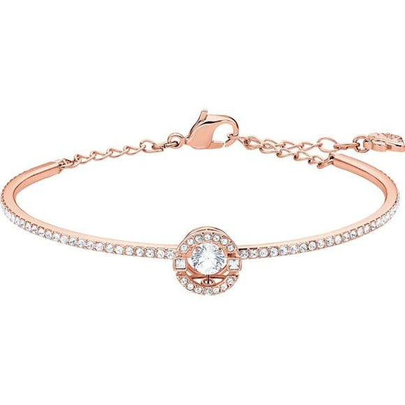 Swarovski Sparkling Dance Bangle, White, Rose-gold Tone Plated 5497483