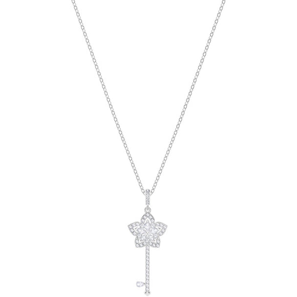 Swarovski Lady Key Pendant, White, Rhodium Plating 5365276
