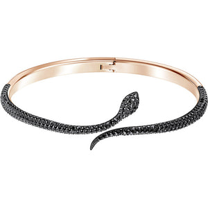 Swarovski Leslie Bangle, Black, Rose Gold Plating 5409194