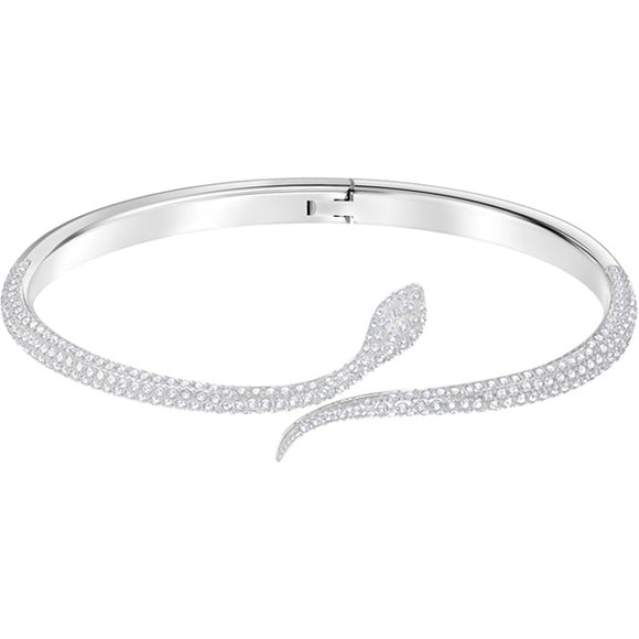Swarovski Leslie Bangle, White, Rhodium Plating 5376338