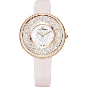 Swarovski Crystalline Pure Watch, Leather Strap, Pink, Rose Gold Tone 5376086
