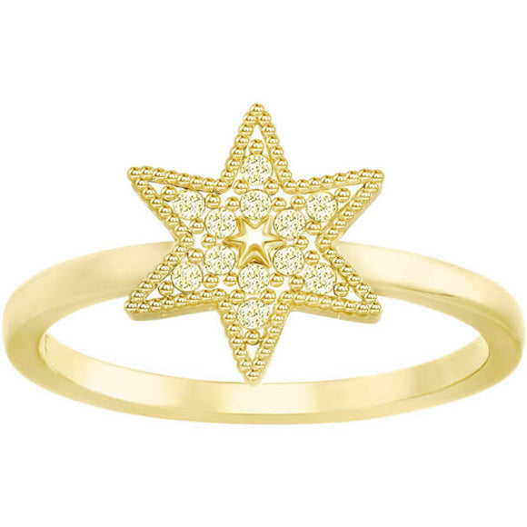 Swarovski Field Star Ring, Golden, Gold Plating 5269948