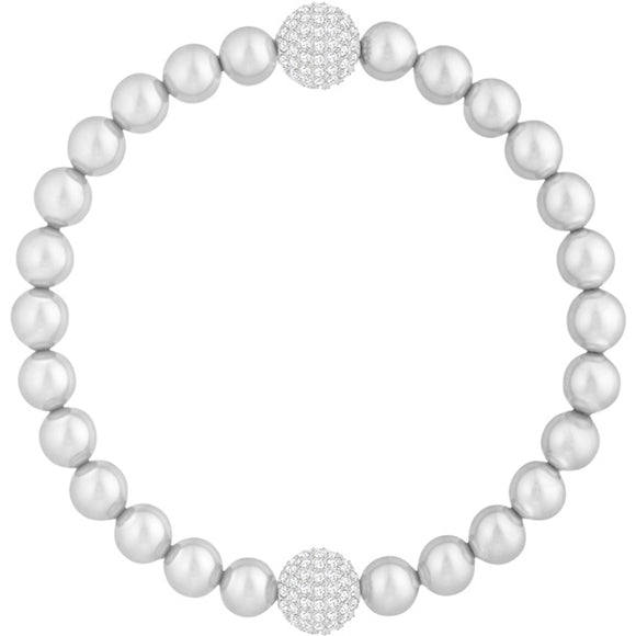 Swarovski Remix Collection Crystal Pearl Strand, Gray, Rhodium Plating 5421432