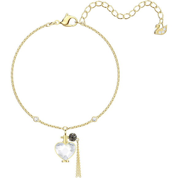 Swarovski Mine Perfume Bracelet, White, Gold Plating Bangle
