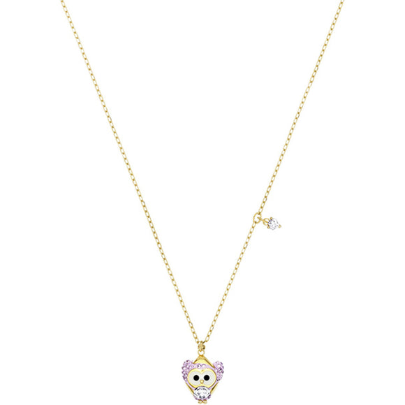 Swarovski Little Snow Owl Pendant, Multi-colored, Gold Plating 5426667