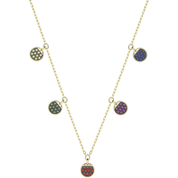 Swarovski Ginger Choker, Multi-colored, Gold Plating 5392917