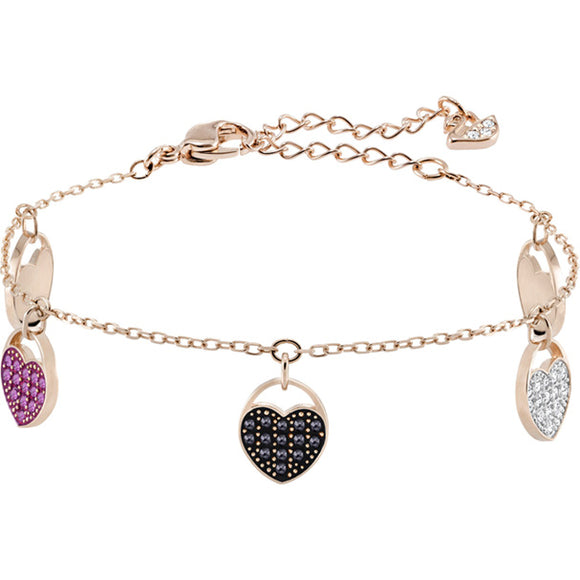 Swarovski Ginger Bracelet, Multi-colored, Rose Gold Plating 5472444