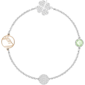 Swarovski Remix Collection Clover Strand, Green, Mixed Plating 5421439