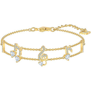 Swarovski Pleasant Bracelet, White, Gold-tone Plated 5491658
