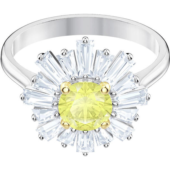 Swarovski Sunshine Ring, Yellow, Rhodium Plating 5482701