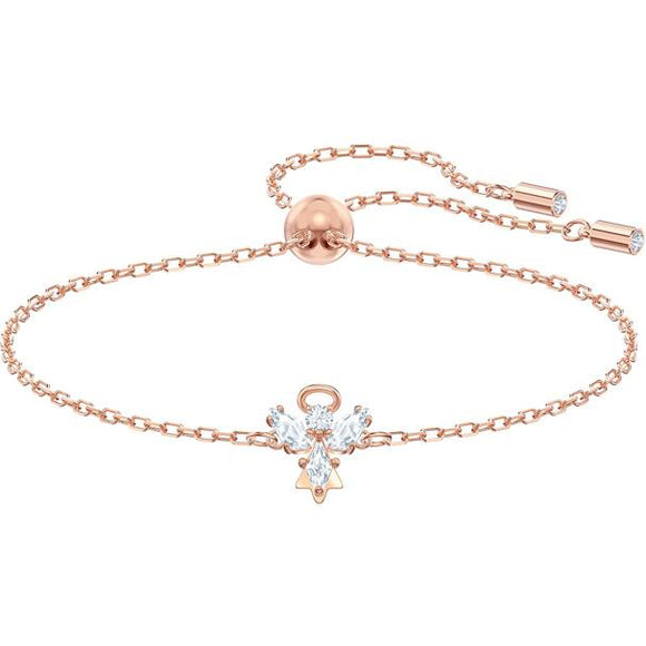 Swarovski Magic Angel Bracelet, White, Rose-gold Tone Plated 5498974