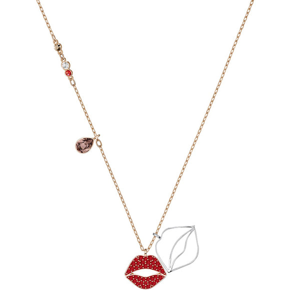 Swarovski Mine Lip Necklace, Multi-colored, Mixed Plating 5409468