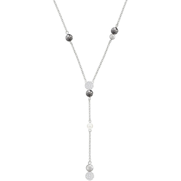 Swarovski Canopy Y Necklace, Multi-colored, Rhodium Plating 5430886