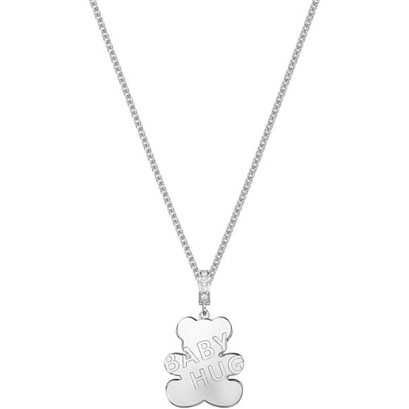 Swarovski Teddy Pendant, White, Rhodium Plating 5410280