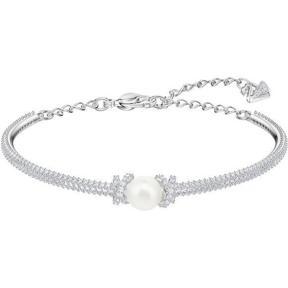Swarovski Originally Bangle, White, Rhodium Plating 5461083