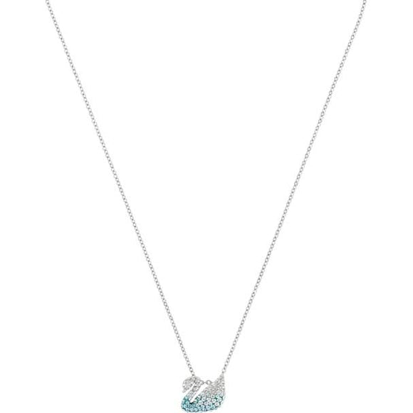 Swarovski Iconic Swan Pendant, Multi-colored, Rhodium Plated 5512094