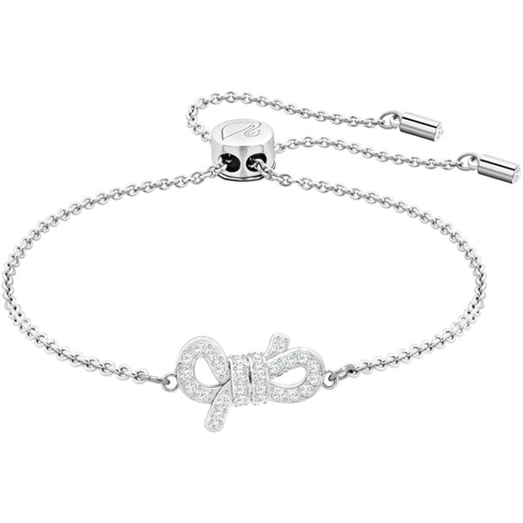 Swarovski Lifelong Bow Bracelet, White, Rhodium Plating 5469983