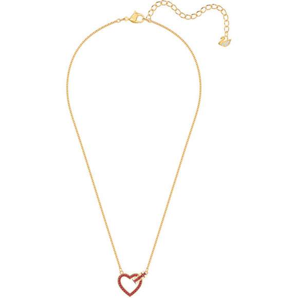 Swarovski Lovely Necklace, Red, Gold Plating 5465683
