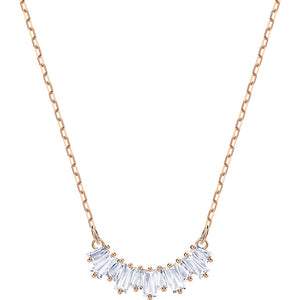 Swarovski Sunshine Necklace, White, Rose Gold Plating 5459590