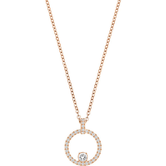 Swarovski Creativity Circle Pendant, White, Rose Gold Plating 5202446