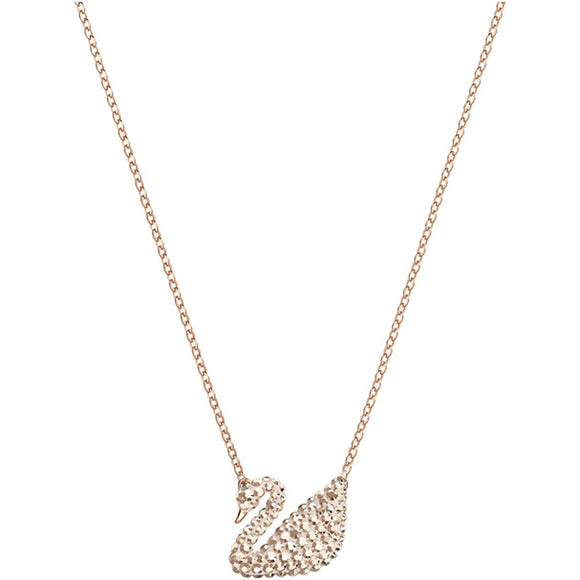 Swarovski Iconic Swan Pendant, White, Rose Gold Plating 5368988
