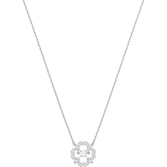 Swarovski Sparkling Dance Pear Necklace, White, Rhodium Plating 5392759