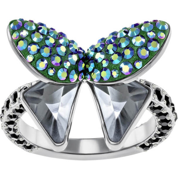 Swarovski Magnetized Motif Ring, Multi-colored, Black Ruthenium Plating 5411005