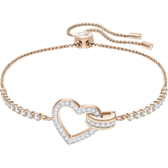 Swarovski Lovely Bracelet, White, Rose Gold Plating 5368541
