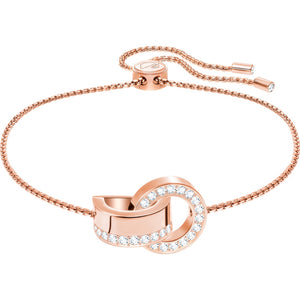 Swarovski Hollow Bracelet, White, Rose-gold Tone Plated 5368040