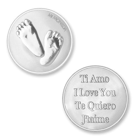 Mi Moneda Baby Feet Medium Coin