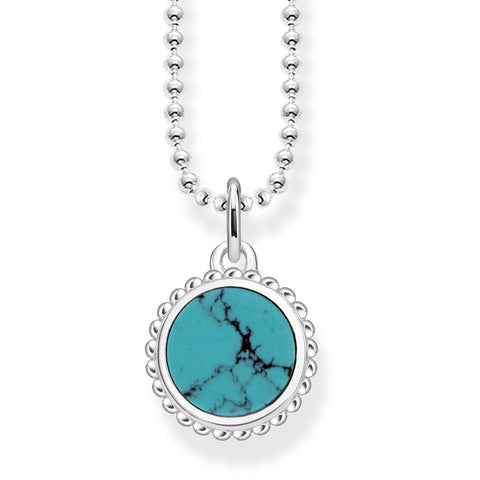 "THOMAS SABO NECKLACE ""TURQUOISE"" KE1762-404-17"
