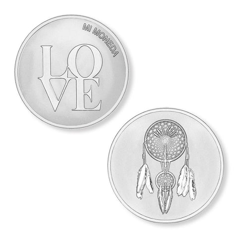 Mi Moneda Love and Dreamcatcher Small Coin
