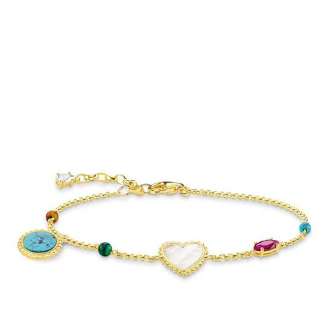 "THOMAS SABO BRACELET ""RIVIERA COLOURS"" A1764-490-7"