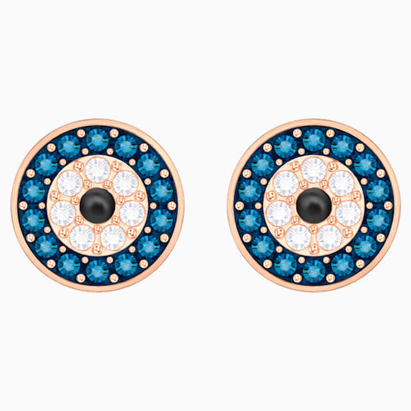 Swarovski Symbolic Evil Eye Pierced Earrings, Multi-colored, Rose gold plating 5377720
